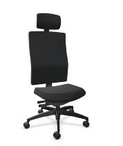 Ergonomischer Bürodrehstuhl Shape economy2 comfort hohe Vollpolster-Rückenlehne Ergo-Nackenstütze - KONFIGURIERBAR