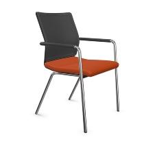 Dauphin ST6800 Stilo visitor mesh Besucherstuhl 4-beiner mit Armlehnen, stapelbar