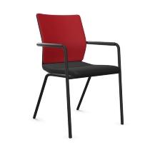 Dauphin ST6830 Stilo visitor mesh comfort Besucherstuhl 4-beiner mit Armlehnen, stapelbar