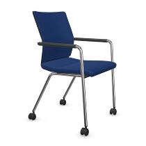 Dauphin ST6832 Stilo visitor mesh comfort Besucherstuhl 4-beiner, mit Armlehnen und Rollen